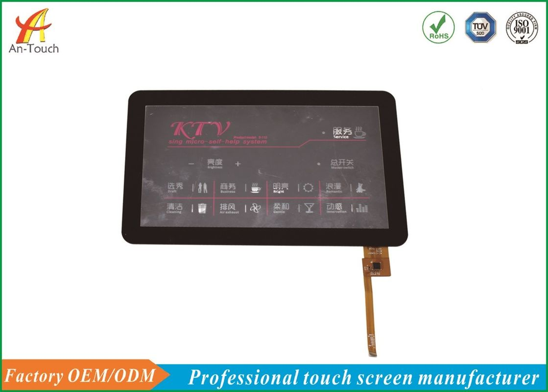 High Sensitivity KTV Touch Screen , I2C Touch Panel 10.1 Inch 0.7 Mm Cover Lens