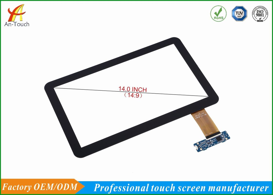 HD Panel Advertising Touch Screen Panel 14 Inch With 1.1mm Cover Lens